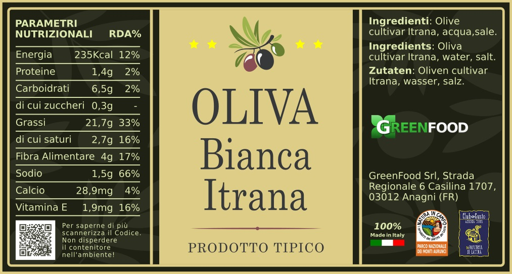 ETICHETTA OLIVA BIANCA