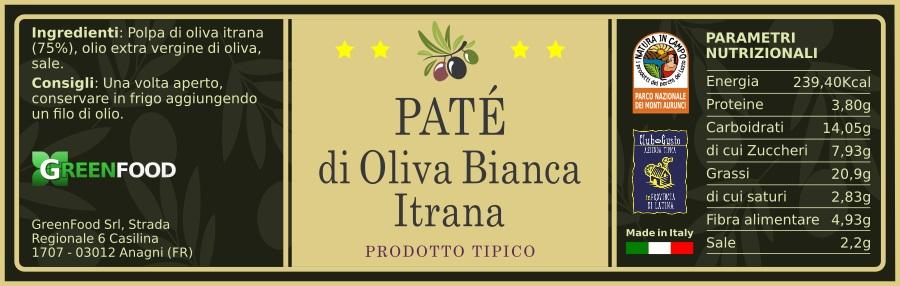 greenfood PATE OLIVA NERA